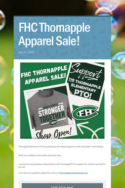 FHC Thornapple Apparel Sale!