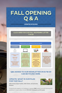 Fall Opening Q & A