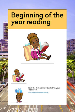 Beginning of the year reading