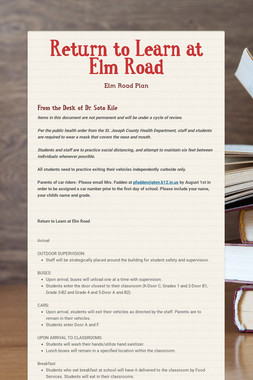 Return to Learn at Elm Road