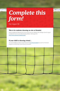 Complete this form!