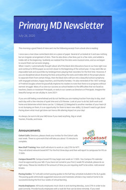 Primary MD Newsletter