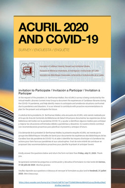 ACURIL 2020 AND COVID-19