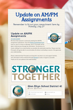 Update on AM/PM Assignments