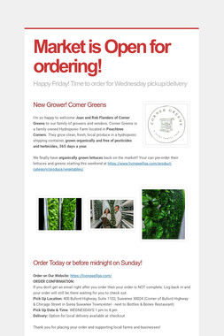 Market is Open for ordering!