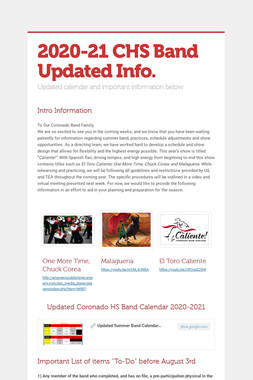 2020-21 CHS Band Updated Info.