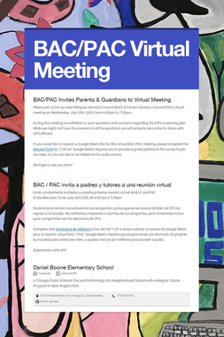 BAC/PAC Virtual Meeting