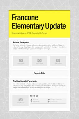 Francone Elementary Update