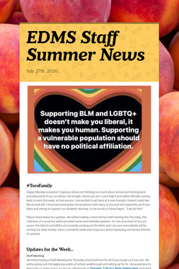 EDMS Staff Summer News