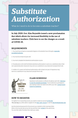Substitute Authorization