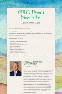GPISD Parent Newsletter