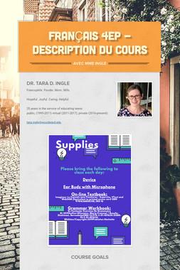 Français 4EP - Description du Cours