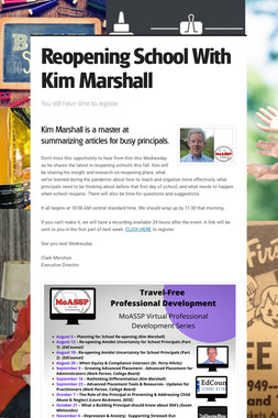 Reopening School With Kim Marshall
