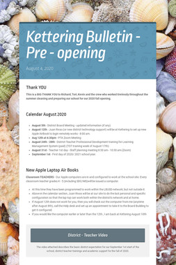 Kettering Bulletin - Pre - opening