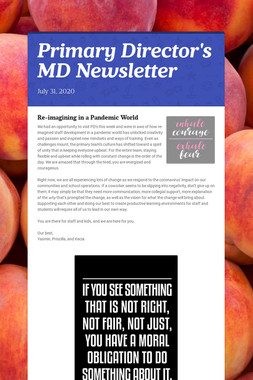 Primary Director's MD Newsletter