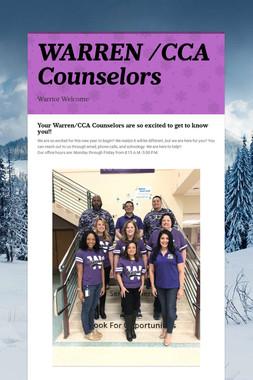 WARREN /CCA Counselors