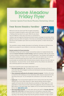 Boone Meadow Friday Flyer