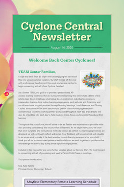 Cyclone Central Newsletter