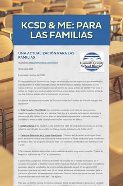 KCSD & Me: Para las familias