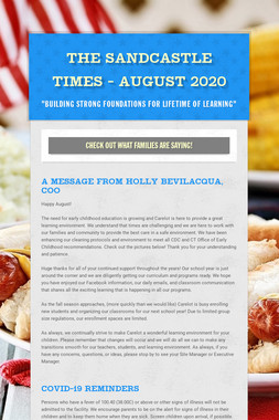 The Sandcastle Times - August 2020