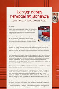 Locker room remodel at Bonanza