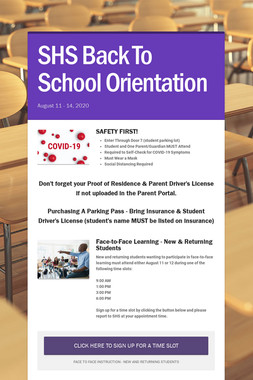 SHS Back To School Orientation