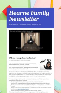 Hearne Family Newsletter