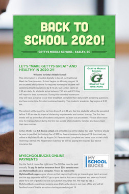 BACK to SCHOOL 2020!