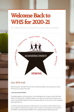 Welcome Back to WHS for 2020-21