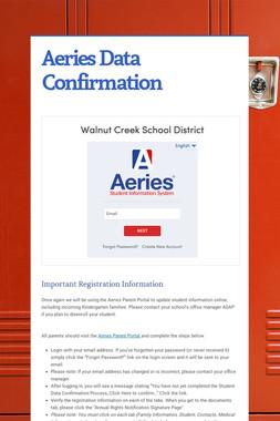 Aeries Data Confirmation