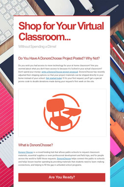 Shop for Your Virtual Classroom...