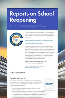 Reports on School Reopening