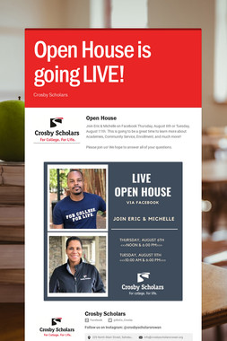 Open House is going LIVE!
