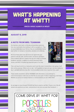What's Happening at Whitt!