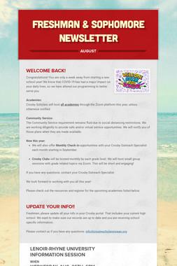 Freshman & Sophomore Newsletter
