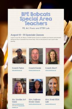 BPE Bobcats Special Area Teachers