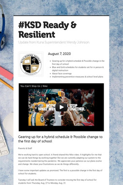 #KSD Ready & Resilient