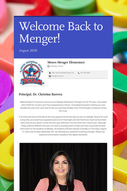 Welcome Back to Menger!