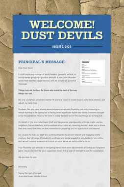 Welcome! Dust Devils