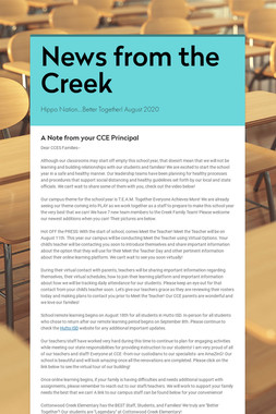 News from the Creek
