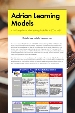 Adrian Learning Models