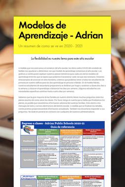 Modelos de Aprendizaje - Adrian