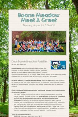 Boone Meadow Meet & Greet