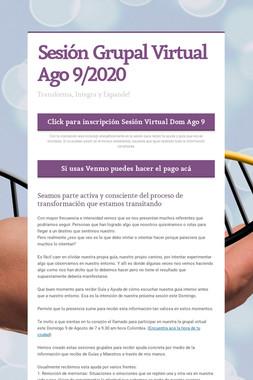 Sesión Grupal Virtual Ago 9/2020