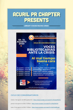 ACURIL PR CHAPTER PRESENTS