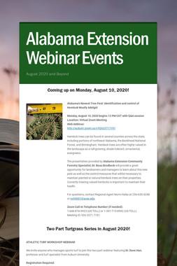 Alabama Extension Webinar Events