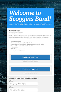 Welcome to Scoggins Band!