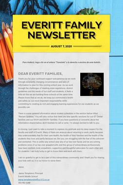 Everitt Family Newsletter
