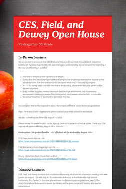 CES, Field, and Dewey Open House