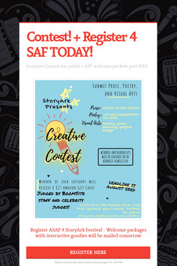 Contest! + Register 4 SAF TODAY!